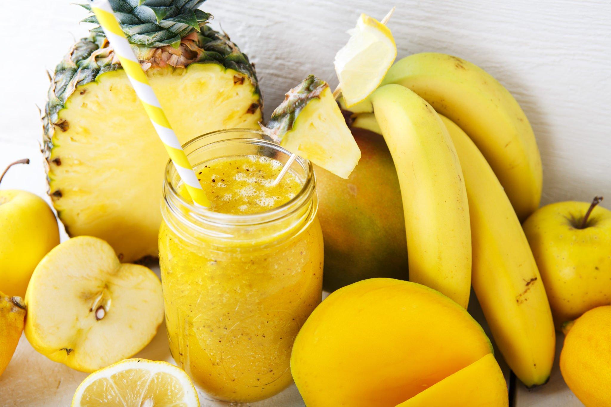 smoothie banane ananas